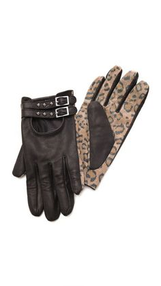 Need a fashion forward leopard accessory? @thisOutfit Maison Scotch Leopard Print Gloves