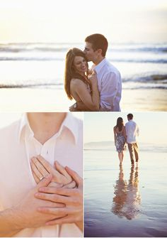 Peaceful Oceanside Engagement Shoot