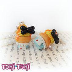 Alice In Wonderland Cupcake Earrings Disney Inspired Polymer Clay Miniature Food Dessert Accessories Cute Kawaii Earrings