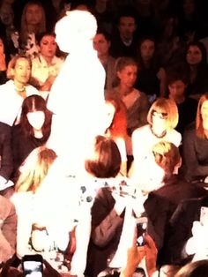 Day Five: Spotted Vogue Editor-in-Chief Anna Wintour at the Carolina Herrera Spring 2014 show