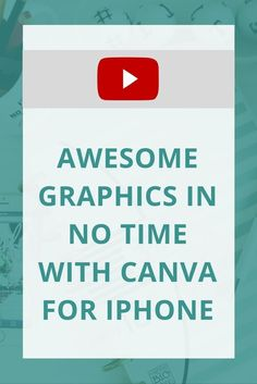 Do you love using Canva? They now have the Canva for iPhone app you can use to create graphics on the go!