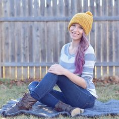 One of my favorite beanies ❤ comfortable, versatile, & classic. Crochet beanie for men, women, and kids!