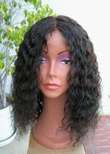 Fashionable Full Lace 18Inch Curly Remy Human Hair Wig