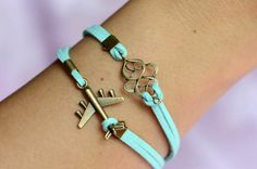 Multicolor Options Leather Bracelet Aircraft Bracelet Charm Bracelet Women Bracelet Men Bracelet by SherryJewelry, $2.98