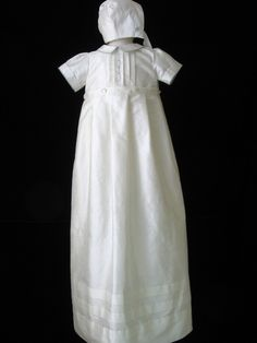 Boys Silk Christening Gown or Baptism Gown by embroideredheirlooms, $199.00