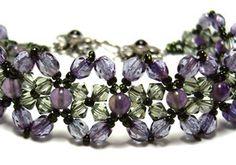 Amethyst and Crystal Bracelet