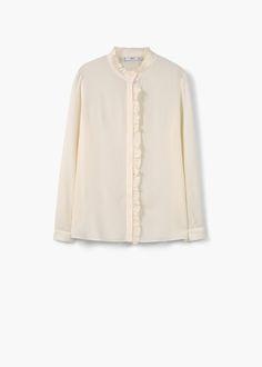 Рубашка с втачным поясом   MANGO МАНГО