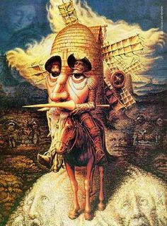Check out the amazing artwork from Octavio Ocampo, who specializes in Metamorphosis Art, admires artists like Salvador Dali, and more. Optical Illusion Paintings, Optical Illusions Pictures, Illusion Pictures, Art Optical, Illusion Kunst, Illusion Art, Art Visionnaire, Dom Quixote, Visionary Art