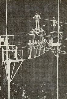 1947 - the 7-Person Pyramid was created by Karl Wallenda in Sarasota, Florida