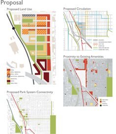 2009 ULI Hines Urban Design Competition - Proposal Diagrams... Cool way to do land use maps