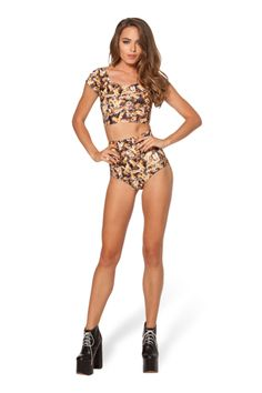 Bees Nana Suit Top (USA LIMITED/WORLDWIDE 48HR) by Black Milk Clothing $40AUD ($35USD)