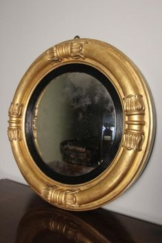 A High Quality William IV Convex Wall Mirror - Mirrors - William James Antiques & Interiors Ltd