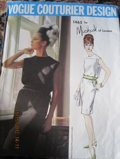 Vintage Vogue Couturier Design Dress by LegacyVintagePattern, $45.00