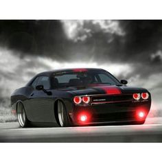 I NEED THESE RED LIGHTS ON MY BLACK CHALLENGER!!!! Dodge Challenger: pure American muscle
