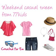 """""""Weekend Casual for Tween girl"""" by centsiblelife on Polyvore"""
