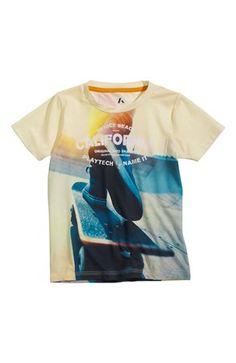 De sejeste PLAYTECH by Name it T-shirt Pavs Lysegul PLAYTECH by Name it T-shirt til Børn & teenager i lækker kvalitet