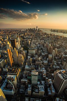 NYC. Manhattan. Looking south from the Empire State top - Andrey Y. Polees