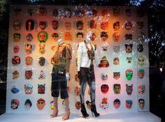 Bergdorf Goodman Halloween Mask Store Windows