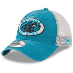 64510b9c3 Men s Carolina Panthers New Era Blue Natural Patched Pride Trucker 9TWENTY Adjustable  Hat