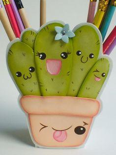 Kawaii Cactus Pencil Holder - Cactus Kawaii pencil holder image 5 Informations About Soporte de lápiz Cactus Kawaii Pin You can e - Cactus Drawing, Cactus Art, Art For Kids, Crafts For Kids, Diy And Crafts, Foam Crafts, Paper Crafts, Circle Crafts, Paint Cards