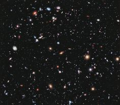 There are over 5500 glaxies visible in this gorgeous picture. Ultra Deep Field by Hubble telescope.