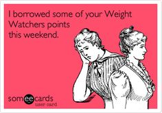 Borrowing Weight Watchers Points