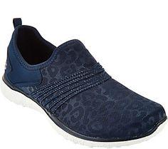 Skechers Leopard Mesh Slip-on Sneakers - Under Wraps