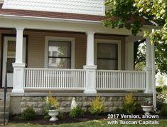 Craftsman Style Porch Pillars Front Pillars For House Front Pillars For House Best Porch Columns Ideas On Front Porch Pertaining Porch Pillars, Front Porch Railings, Front Porch Design, Screened In Porch, Porch Designs, Front Porches, Porch Balusters, House Pillars, Rope Railing