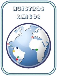 Nuestros Amigos classroom display of Spanish-speaking countries | by Fran Lafferty | $1.80