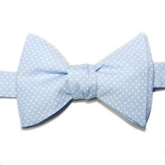 Nœud papillon Mini pois bleu ciel  Pale blue with pin dots bow tie