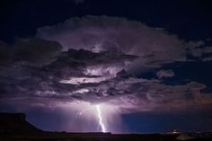 Lightning Strike Near Lake Powell, Utah September 14, 2013, Photographer: David Rankin; David's Web site