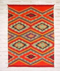 Navajo Germantown Eyedazzler Weaving Circa 1880
