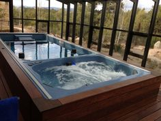 15\' Swim Spa   Endless pools and Sunroom