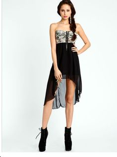 Camo High Low Dress #LoveCulture