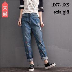 31.00$  Watch here - https://alitems.com/g/1e8d114494b01f4c715516525dc3e8/?i=5&ulp=https%3A%2F%2Fwww.aliexpress.com%2Fitem%2F2XL-8XL-plus-size-fish-bone-printed-cotton-Ankle-Length-Pants-2016-new-fashion-women-s%2F32765282979.html - 2XL-8XL  plus size fish bone printed cotton Ankle-Length Pants 2016 new fashion women 's stiching bleached jeans w1499