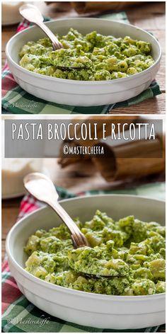 Pasta broccoli e ricotta Italian Recipes, Mexican Food Recipes, Healthy Recipes, Ethnic Recipes, Pasta Con Broccoli, Pasta Plus, Cooking For Dummies, Ricotta Pasta, Cooking Together