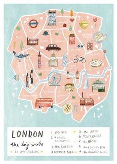 London map - Livi Gosling