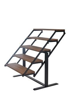 SWING Black/Thermo ash Table to shelves