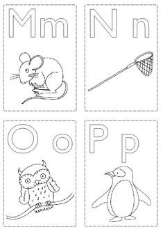 1000 Images About Abc On Cards Colour And Abc Flashcards Printable Flash Cards Abc Coloring Pages