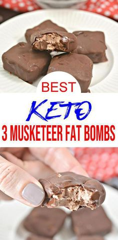Super tasty Keto 3 Musketeer Candy Fat Bombs you won't be able to stop eating. A NO BAKE keto candy fat bomb that you can mix up super quick. Low Carb Candy, Keto Candy, Keto Friendly Desserts, Low Carb Desserts, Free Keto Recipes, Low Carb Recipes, Vegetarian Recipes, Keto Fat, Low Carb Keto
