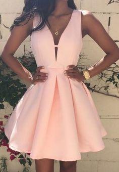 Satin Homecoming Dresses,Short Prom
