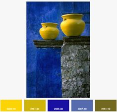 Daffodil and Lapis - For more inspired color palettes, visit globaldesignpost.com