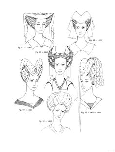 Womens Hats, Headdresses and Hairstyles: With 453 Illustrations, Medieval ... - Georgine de Courtais - Google Books