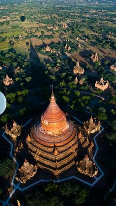 From Above a Temple in Bali, Indonesia.
