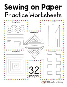 Practice Sewing Worksheets