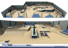Poole Indoor Skatepark design by Maverick - www.maverickindustries.co.uk