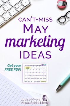 See your small business grow with these May marketing ideas! Click to download a FREE content inspiration calendar. Get noticed and boost your engagement! Perfect for bloggers, social media marketers, and entrepreneurs. | #LouiseM #ContentMarketing #SmallBusinessTips #Bloggers #SocialMediaMarketing #Printable #May #SMM Facebook Marketing, Internet Marketing, Social Media Marketing, Marketing Ideas, Marketing Strategies, Business Marketing, Content Marketing, Business Tips, Online Business