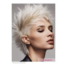 Punk Mohawk Hairstyles For Rock Girls found on Polyvore