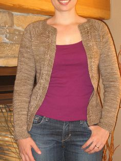 A Very Plucky Cardigan - on Ravelry - basic -can a zipper be installed?