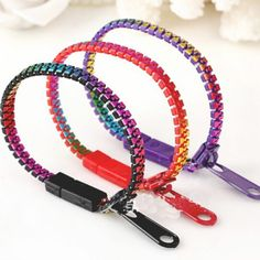 A wearable zipper that you can fidget with for tactile and auditory stimming. This quarter-inch wide bracelet zips open all the way around from one side of the clasp to the other. It fastens closed with a simple plastic clasp, which can also be used to connect multiple bracelets together. These come in a pack which contains 10 pieces. (1 pack = 10 Pieces) Please note : Random Colors will be sent